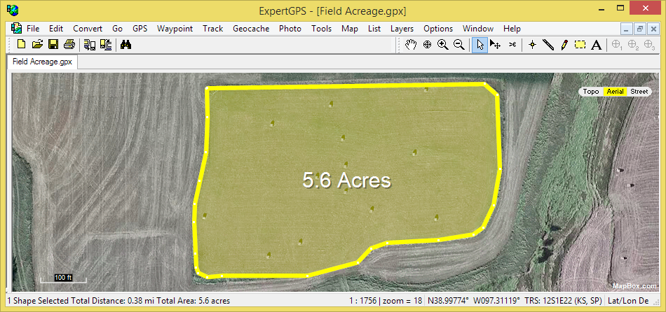 Acre Measure Map Calculating Area with a GPS: Calculate Acreage with a Garmin GPS