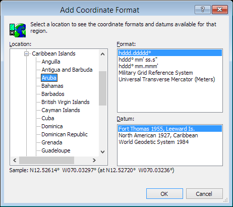 ExpertGPS is a batch coordinate converter for Aruban GPS, GIS, and CAD coordinate formats.