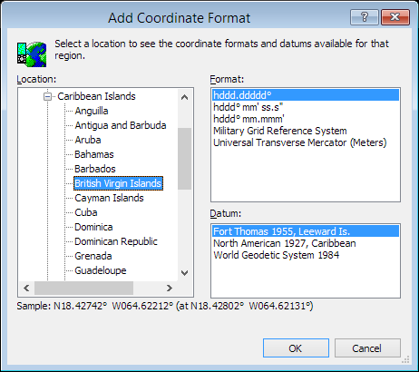 ExpertGPS is a batch coordinate converter for British Virgin Island GPS, GIS, and CAD coordinate formats.