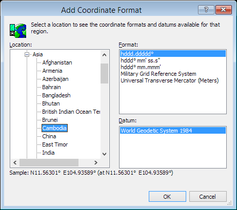 ExpertGPS is a batch coordinate converter for Cambodian GPS, GIS, and CAD coordinate formats.
