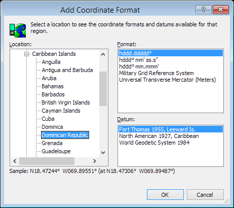 ExpertGPS is a batch coordinate converter for Dominican GPS, GIS, and CAD coordinate formats.