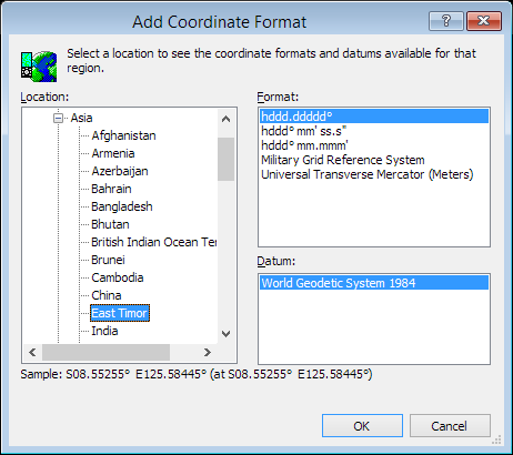 ExpertGPS is a batch coordinate converter for Timorese GPS, GIS, and CAD coordinate formats.