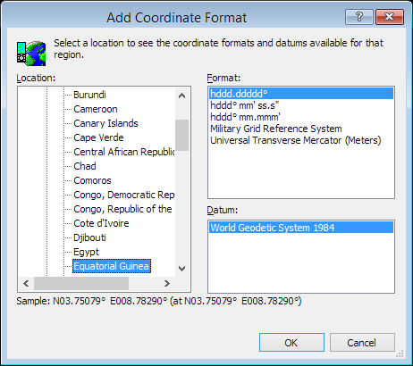 ExpertGPS is a batch coordinate converter for Equatorial Guinea GPS, GIS, and CAD coordinate formats.