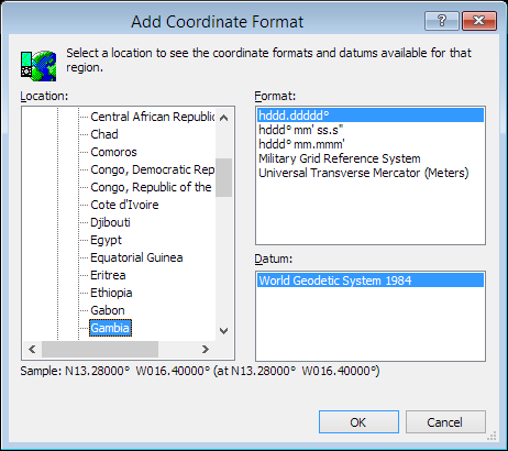 ExpertGPS is a batch coordinate converter for Gambian GPS, GIS, and CAD coordinate formats.