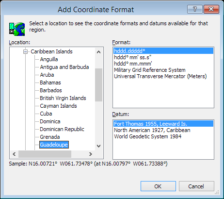 ExpertGPS is a batch coordinate converter for Guadeloupe GPS, GIS, and CAD coordinate formats.