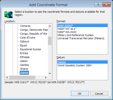 ExpertGPS is a batch coordinate converter for Guinean GPS, GIS, and CAD coordinate formats.