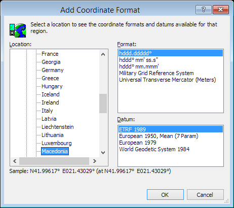 ExpertGPS is a batch coordinate converter for Macedonian GPS, GIS, and CAD coordinate formats.