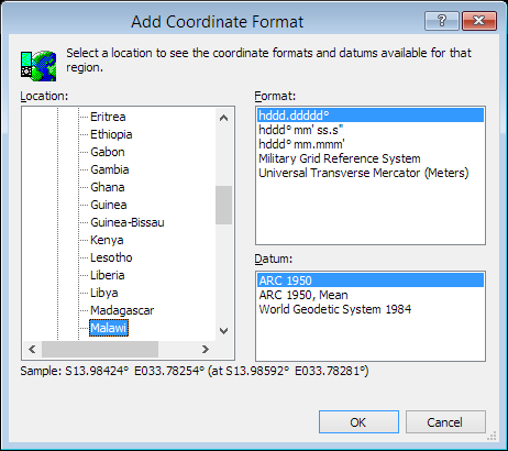 ExpertGPS is a batch coordinate converter for Malawian GPS, GIS, and CAD coordinate formats.