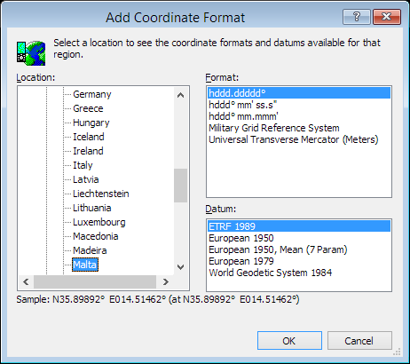 ExpertGPS is a batch coordinate converter for Maltese GPS, GIS, and CAD coordinate formats.