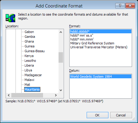 ExpertGPS is a batch coordinate converter for Mauritanian GPS, GIS, and CAD coordinate formats.