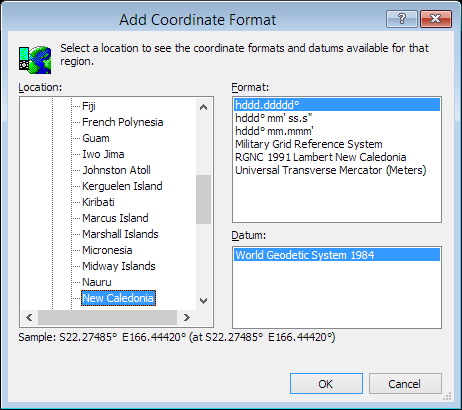 ExpertGPS is a batch coordinate converter for New Caledonian GPS, GIS, and CAD coordinate formats.