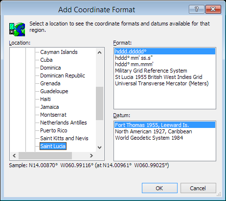 ExpertGPS is a batch coordinate converter for St. Lucian GPS, GIS, and CAD coordinate formats.
