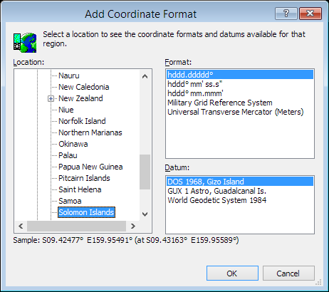 ExpertGPS is a batch coordinate converter for Solomon Island GPS, GIS, and CAD coordinate formats.