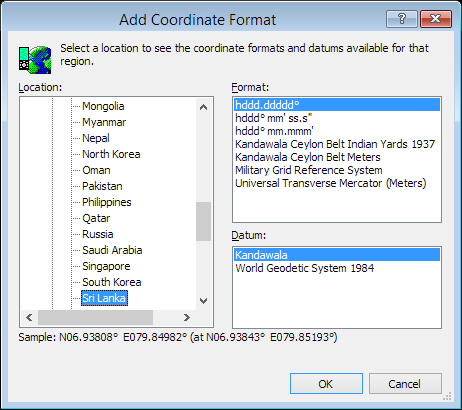 ExpertGPS is a batch coordinate converter for Sri Lankan GPS, GIS, and CAD coordinate formats.