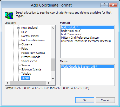ExpertGPS is a batch coordinate converter for Tongan GPS, GIS, and CAD coordinate formats.