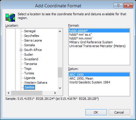 ExpertGPS is a batch coordinate converter for Zambian GPS, GIS, and CAD coordinate formats.