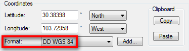 Converted DMS to decimal degrees of latitude and longitude