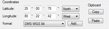 Entering DMS coordinates in ExpertGPS