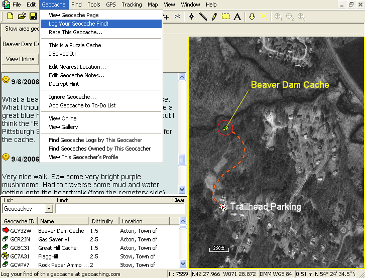 ExpertGPS: Geocaching Software with Topo Maps and Aerial Photos