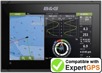 Download your B&G Vulcan 7 FS waypoints and tracklogs and create maps with ExpertGPS