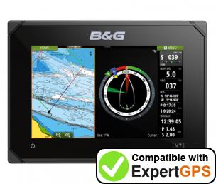 Download your B&G Vulcan 7 waypoints and tracklogs and create maps with ExpertGPS