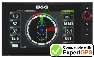 Download your B&G Zeus2 waypoints and tracklogs and create maps with ExpertGPS