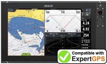 Download your B&G Zeus3 16 waypoints and tracklogs and create maps with ExpertGPS