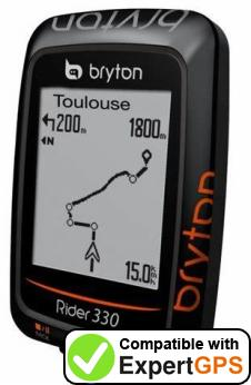 Download your Bryton Rider 330 waypoints and tracklogs and create maps with ExpertGPS