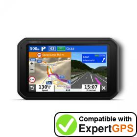 Download your Garmin Camper 785 waypoints and tracklogs and create maps with ExpertGPS