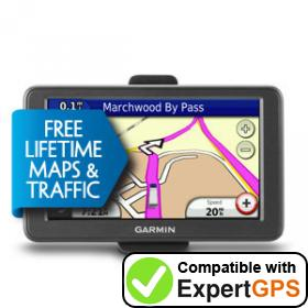 Download your Garmin dēzl 560LMT Camper Deluxe waypoints and tracklogs and create maps with ExpertGPS