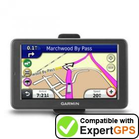 Download your Garmin dēzl 560LMT waypoints and tracklogs and create maps with ExpertGPS