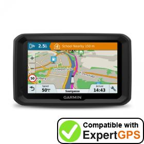Download your Garmin dēzl 580 waypoints and tracklogs and create maps with ExpertGPS