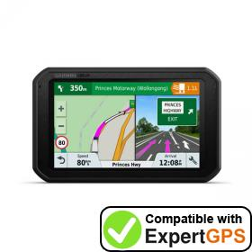 Download your Garmin dēzl 780 LMT-S waypoints and tracklogs and create maps with ExpertGPS