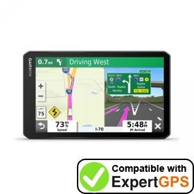 Download your Garmin dēzl OTR700 waypoints and tracklogs and create maps with ExpertGPS