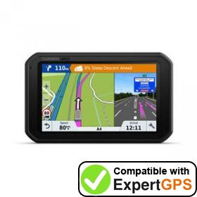Download your Garmin dēzlCam 785 LMT-D waypoints and tracklogs and create maps with ExpertGPS