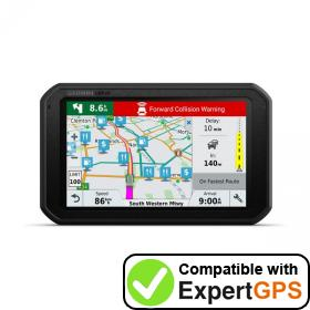 Download your Garmin dēzlCam 785 LMT-S waypoints and tracklogs and create maps with ExpertGPS