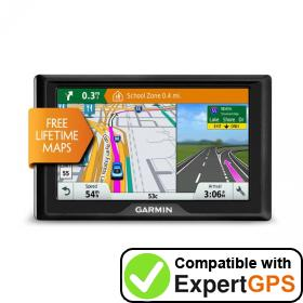 Download your Garmin Drive 5 LM EX waypoints and tracklogs and create maps with ExpertGPS