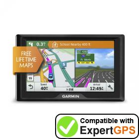 Download your Garmin Drive 51 LM waypoints and tracklogs and create maps with ExpertGPS