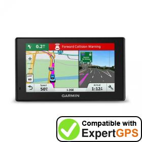 Download your Garmin DriveAssist 51 LMT-S waypoints and tracklogs and create maps with ExpertGPS
