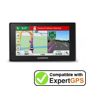 Download your Garmin DriveAssist 51 LMTHD waypoints and tracklogs and create maps with ExpertGPS