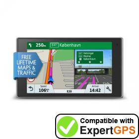 Download your Garmin DriveLuxe 51 LMT-D waypoints and tracklogs and create maps with ExpertGPS