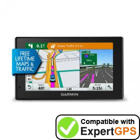 Download your Garmin DriveSmart 5 LMT waypoints and tracklogs and create maps with ExpertGPS
