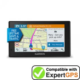 Download your Garmin DriveSmart 50LMT-D waypoints and tracklogs and create maps with ExpertGPS
