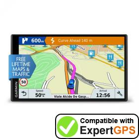 Download your Garmin DriveSmart 61 LMT-D waypoints and tracklogs and create maps with ExpertGPS