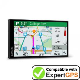 Download your Garmin DriveSmart 7 LMT-S EX waypoints and tracklogs and create maps with ExpertGPS
