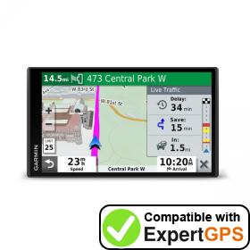 Download your Garmin DriveSmart 71 EX waypoints and tracklogs and create maps with ExpertGPS