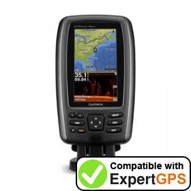 Download your Garmin echoMAP 42dv waypoints and tracklogs and create maps with ExpertGPS