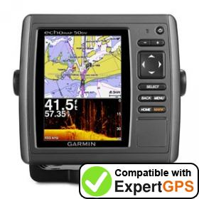 Download your Garmin echoMAP 50dv waypoints and tracklogs and create maps with ExpertGPS