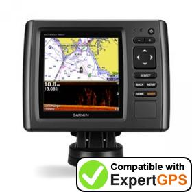 Download your Garmin echoMAP 54dv waypoints and tracklogs and create maps with ExpertGPS