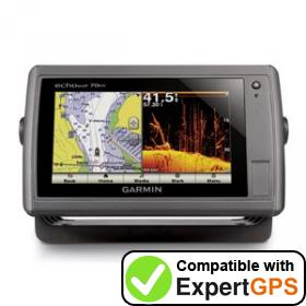 Download your Garmin echoMAP 70dv waypoints and tracklogs and create maps with ExpertGPS